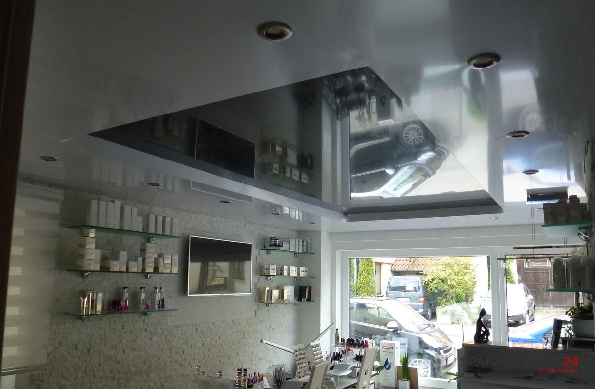 Home spanndecken f rs wohnzimmer den flur das bad for Deckendesign wohnzimmer